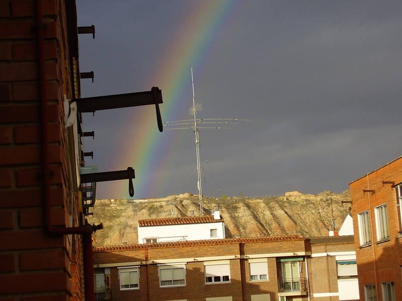 El arcoiris fotografiado por los riojanos
