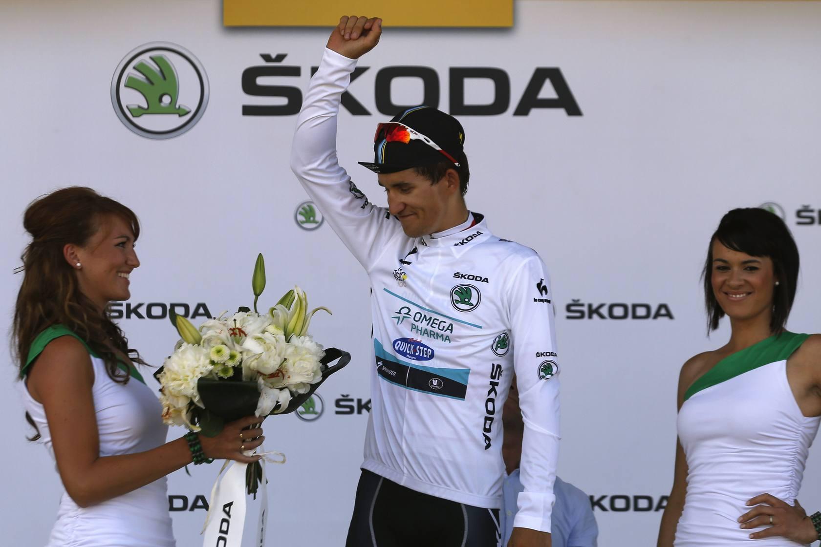Gerrans gana la tercera etapa del Tour , Bakelants conserva el liderato