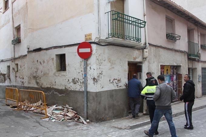 Derrumbe en una casa de Alfaro de la calle Tudela