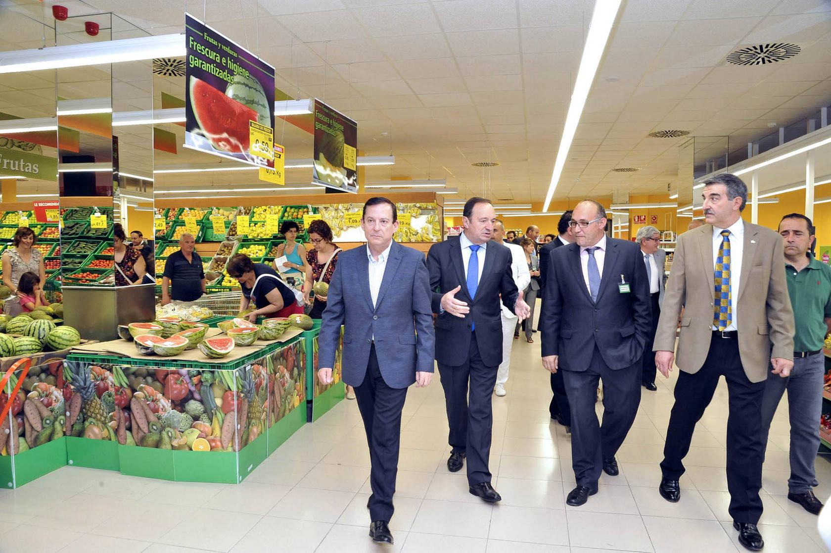 Pedro Sanz visita Mercadona