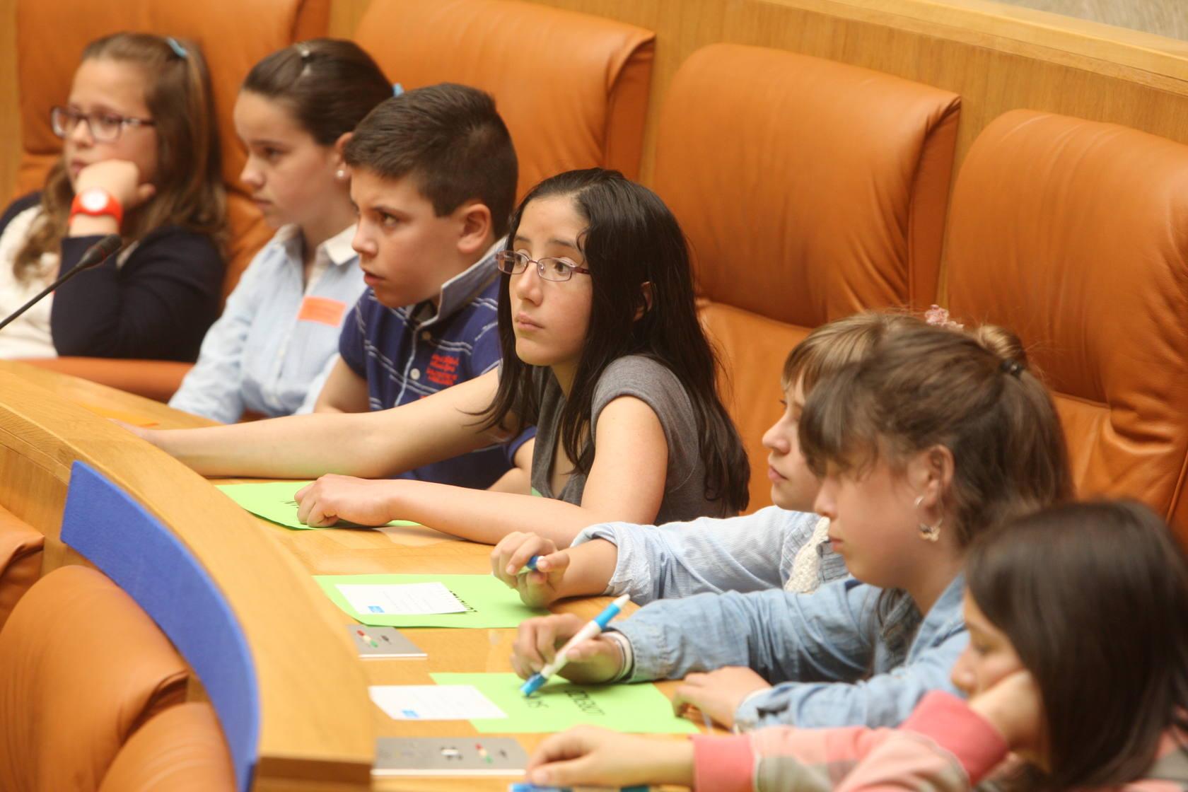 Pleno infantil en el Parlamento de La Rioja