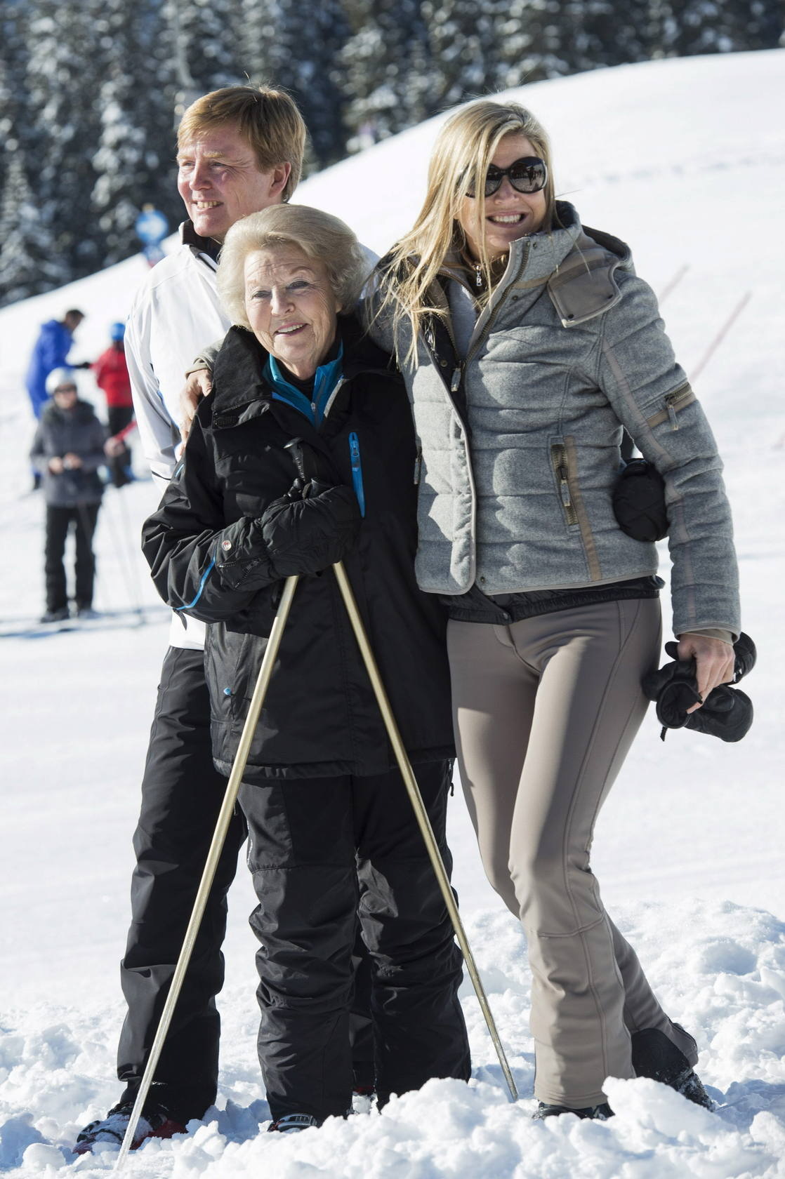 La Familia Real holandesa, en la nieve