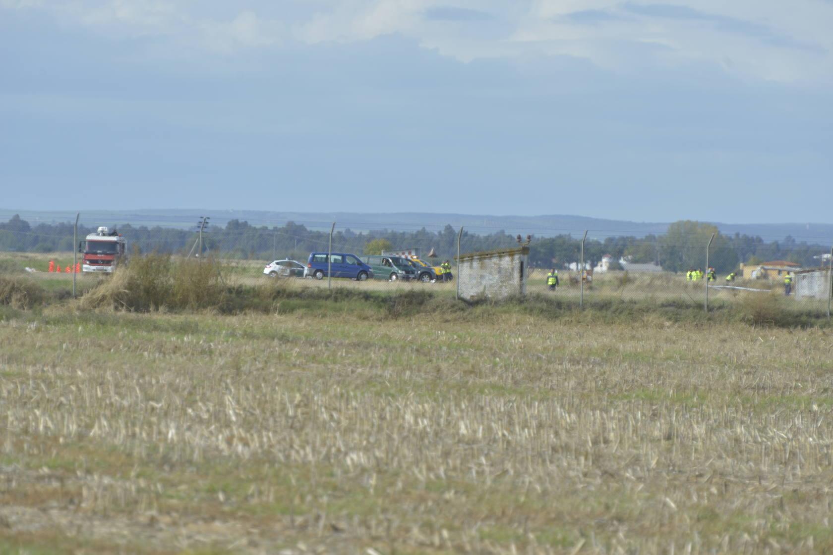 Accidente aéreo en las pistas de la base aérea de Talavera